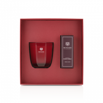 Rosso Nobile Gift Box with 200 g Candle + 50 ml Hand Cream